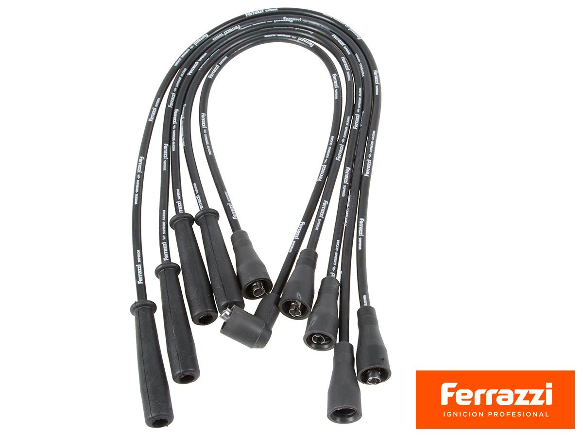 JUEGO DE CABLES DE BUJIA 7mm. SILICONADOS PARA CHEVROLET LUV 2.3 MOTOR ISUZU 4ZD1, PARA ISUZU AMIGO 2.3 - 2.6 Y TROOPER 2.3 - 2.6 91/96