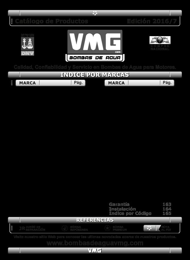 <p>Cat&aacute;logo VMG</p>
